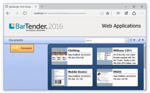 Bartender Web Application Screen